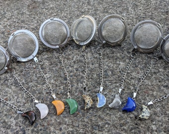 Tea ball | Crescent Moon & Star Crystal Tea Ball | Tea Accessories
