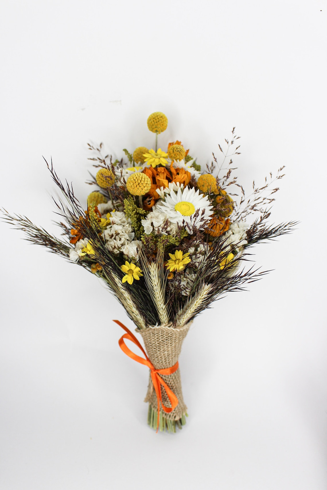 Autumn dried flower bouquet  Dried fall rustic wedding image 2