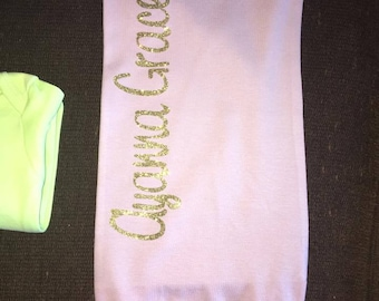 custom baby name gowns