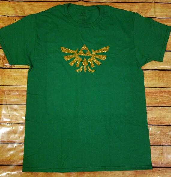Zelda Green Triforce Logo Mens T-Shirt