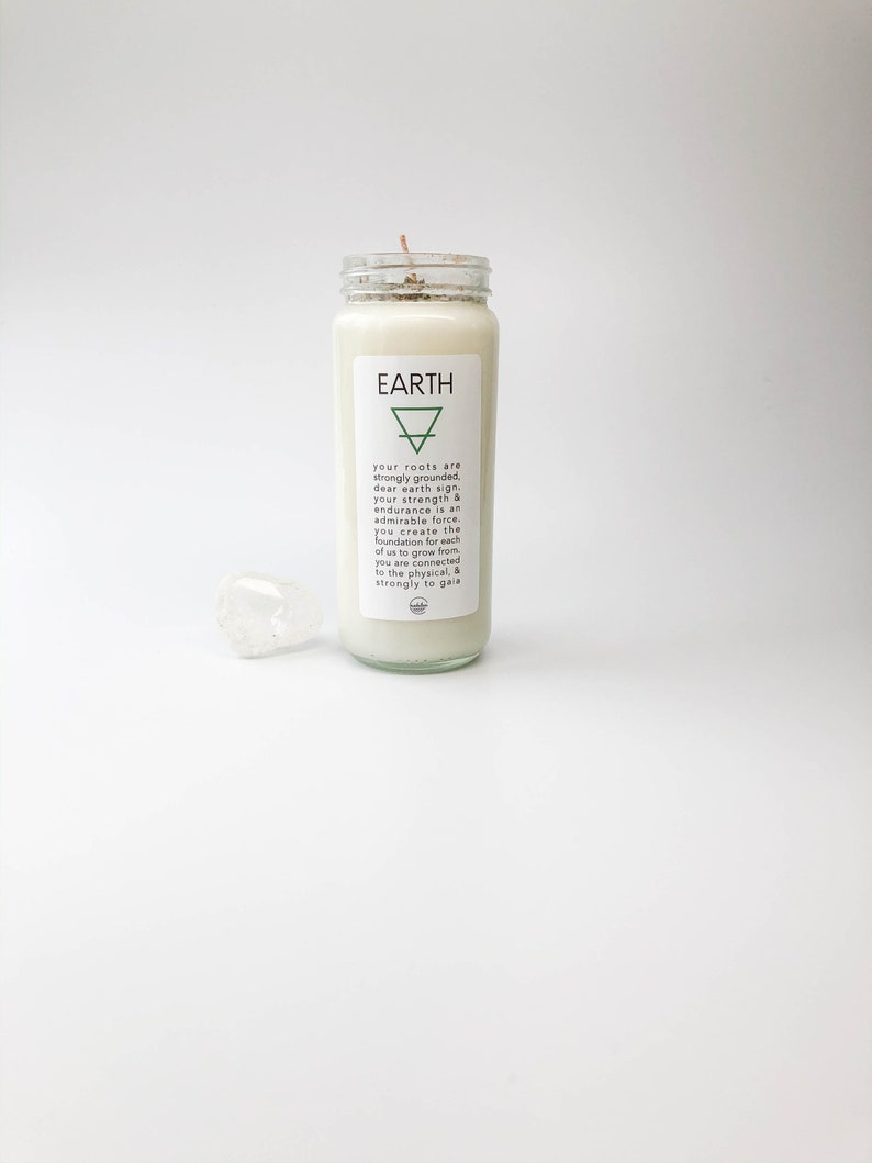 Earth Intention Candle Set-Ritual Candle-Meditation Candle ...