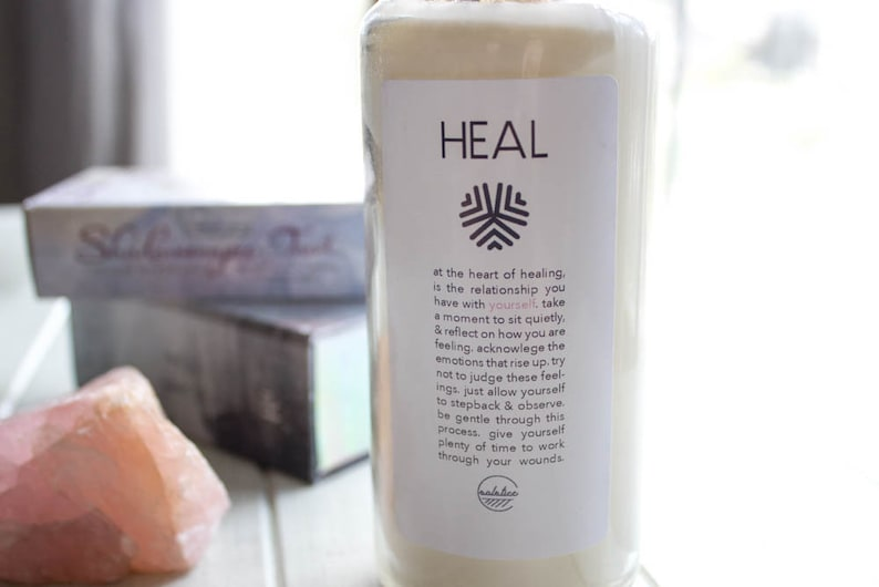 Heal Intention Candle-Ritual Candle-Meditation Candle | Etsy