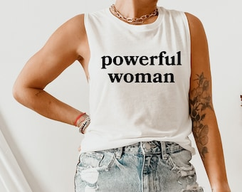 Racerback Top Self-Love Shirt Empowered Women\u2019s Tank Positive Motivational Inspirational Tee Strong Woman Shirt Gym Fitness Yoga