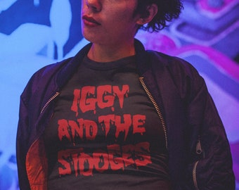 THE STOOGES IGGY POP ROCK BAND Men Women Unisex TShirt Vest Baseball Hoodie 2834