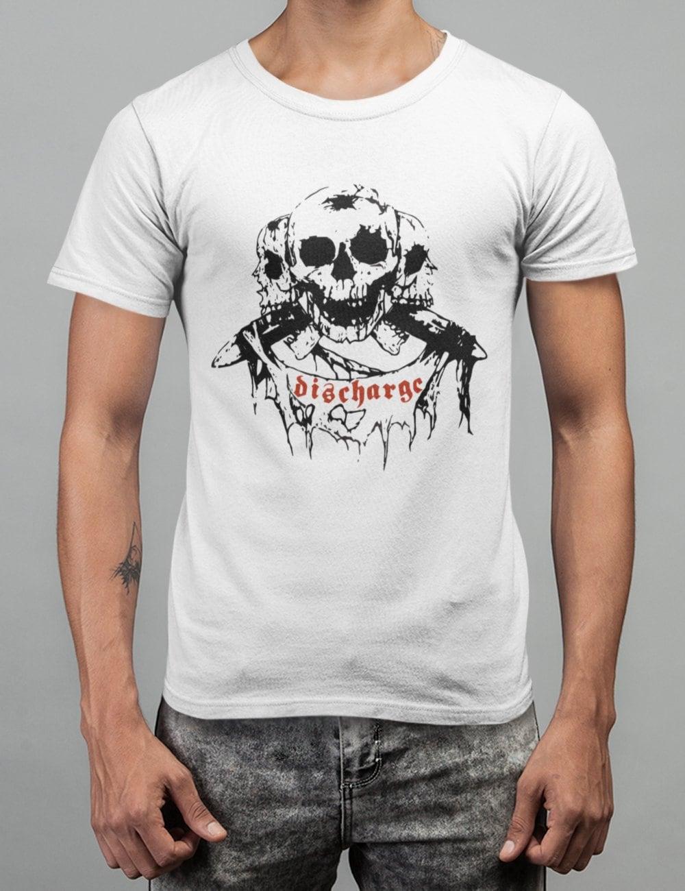 Maglietta T-shirt Musica Hard Punk Rock Chiatarra Teschio Old School Star Shirts