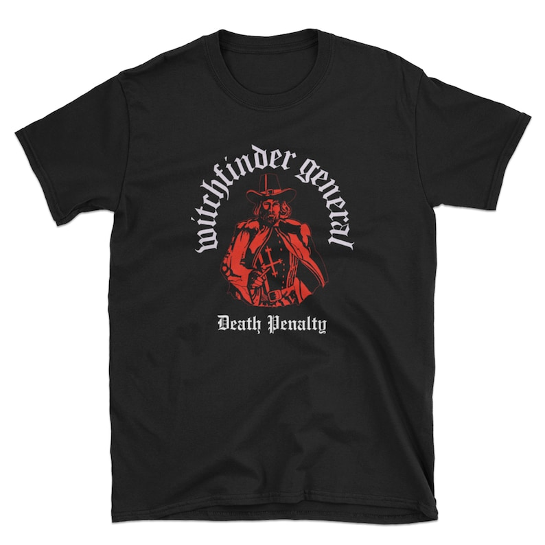 Witchfinder General Unisex T Shirt, NWOBHM, Doom Metal, Vintage Style Metal  T Shirt