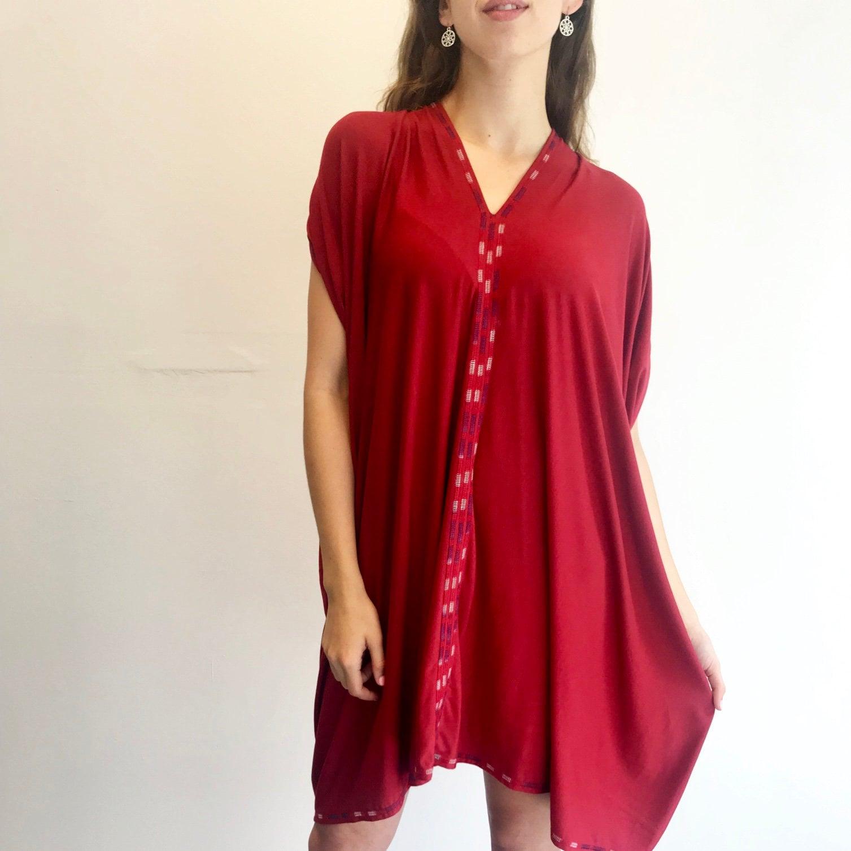 Loose fit top, Ethiopian Dress Long tunic Infinity Top Caftan Top Caftan Short Sleeve Top Loose fit dress Eritrean Dress V-neck top