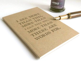 T. S. Eliot Quote Notebook | Literature Quotation Typography | Kraft Journal Lined Ruled A6 Writing Book | Inspiration Quote Gift for Writer