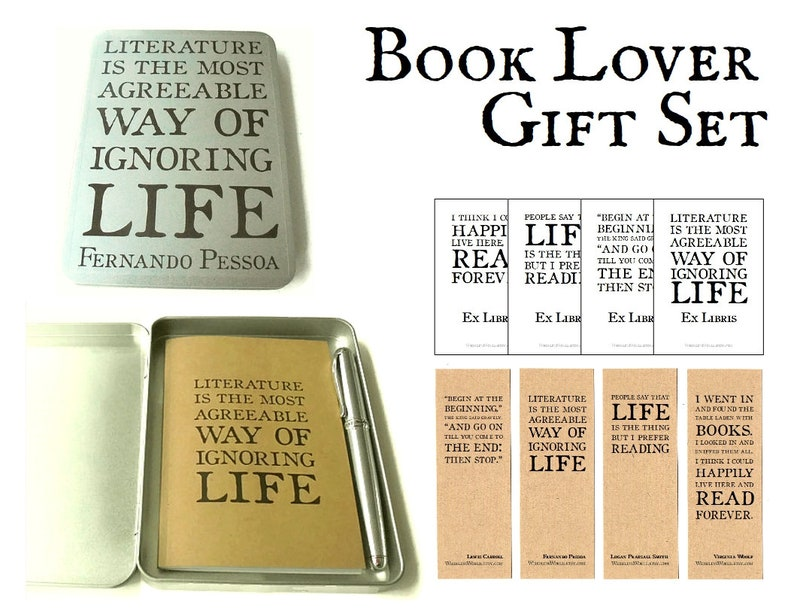 Bookish Gift Set Book Lover Quote Gift Tin Containing Etsy