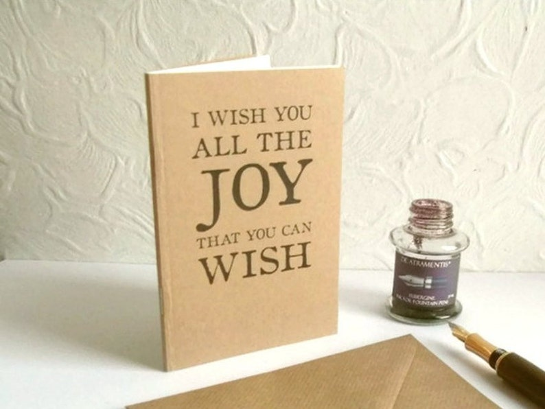 Joy Quote Notebook as Greeting Card  Shakespeare Quotation image 0