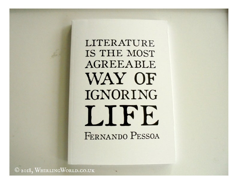 Reading Journal A5  Literary Quote Book Log  Book Lover Gift image 0