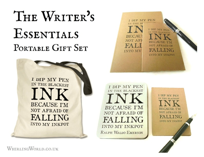 Writing Kit Gift Set Care Package for Writer  Tote bag tin image 0