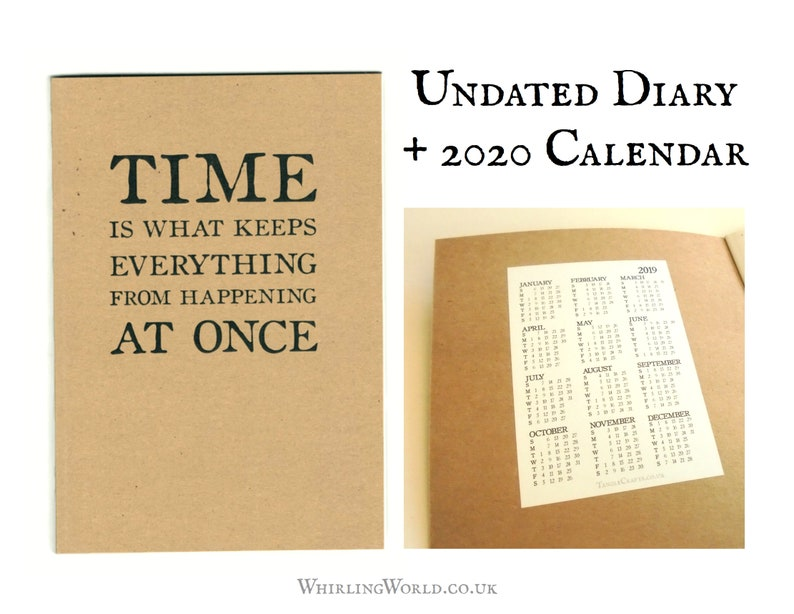 Any Year Diary inc 2020 Calendar  Recycled Paper Birthday image 0