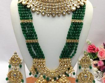 Polki, Kundan Jadau Necklace Set, Meenakari Jewelry, Indian Jewelry, Kundan Jewelry, Rajputana Indian Bridal Jewelry, Nizami Necklace,