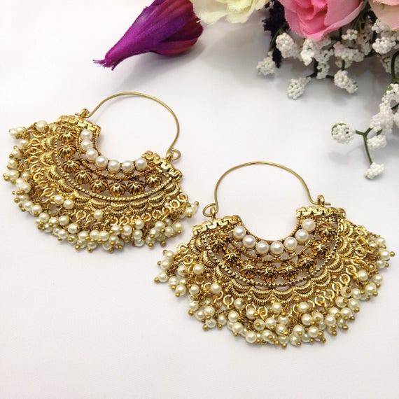 Handmade Party Wear Bali Earrings Indian Jewelry Pakistani Etsy