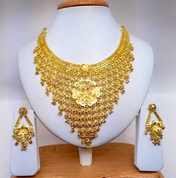 Handmade Indian Bridal Wedding Jewelry 22ct Heavy Gold Plated Etsy