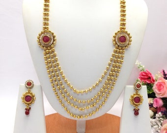 Handmade Polki Necklace Set Indian Wedding Jewelry Indian jewelry Pakistani Bollywood jewelry