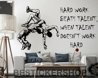 More Colours. Wrestling Wall Decal ...