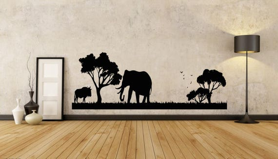 african wall decal african wild pride animals safari decal | etsy