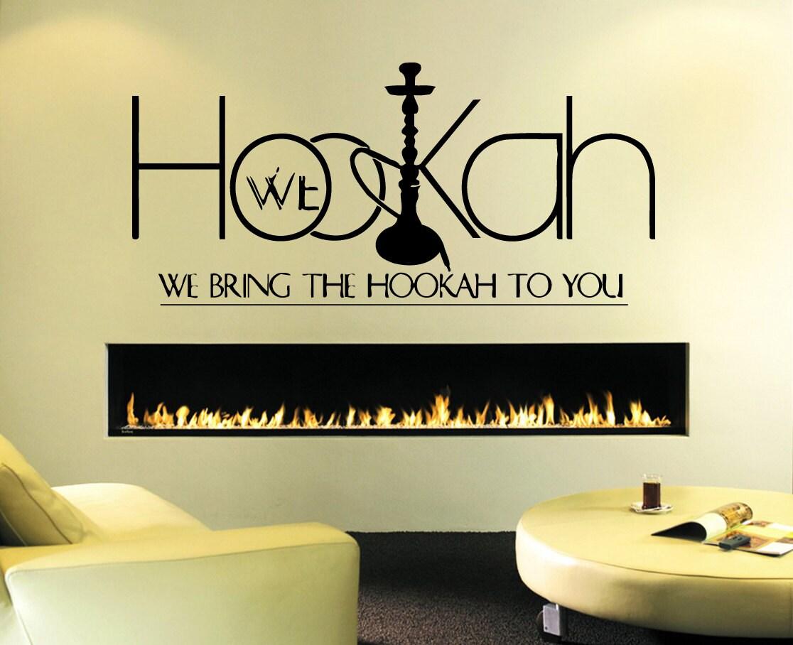 Wall Decal Sticker Bedroom Hookah Lounge Logo Hookah Bar Wall | Etsy