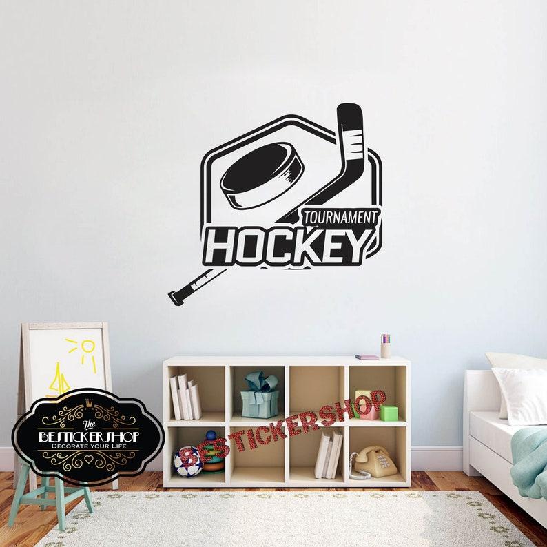 hockey wall decal sticker quotes bedroom field ice hockey | etsy