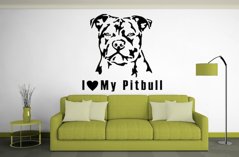 Wall Decal Dogs Pitbull Best Friend Animals Anime Best Fiend Wall Decal Wall Decals 294re