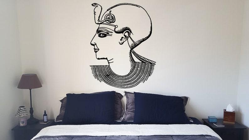 Wall Decal Sticker camera da letto egiziana faraone Dio Re Tutankhamun  Ramses 104b