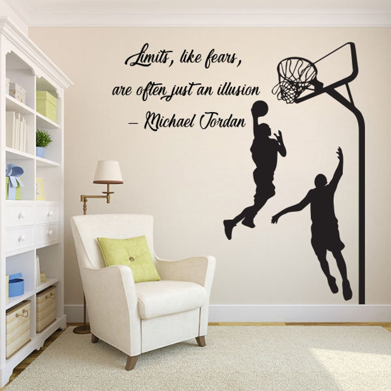 Basketball Quotes Wall Decal Basket Stickers Decals Basketball Etsy