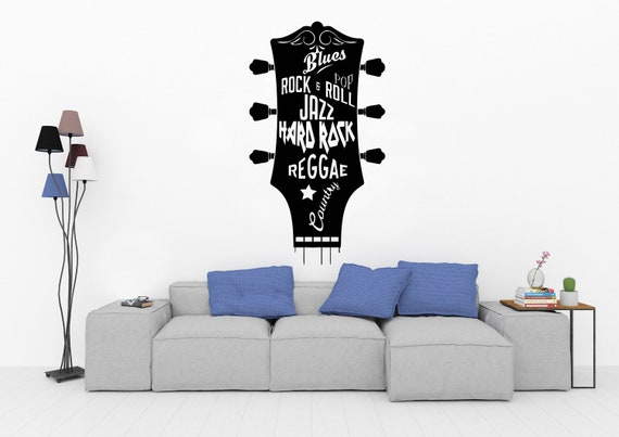 Instrument Music Wall Stickers Rooms Wall Decals Living Room Home Decor Vinyl Stickers Muraux Home Decoration Art 1020re