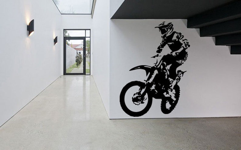 wall decal sticker bedroom sport dirt bike motorcycle kids | etsy