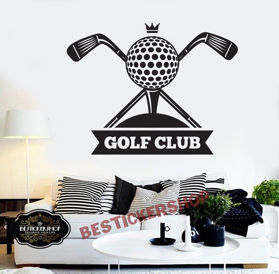 golf wall decal golf decals golf quotes decals sport wall | etsy