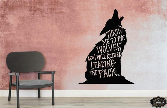 Wall Decal Wolf Dog Animals Anime Wall Decal Wolf Wall Tattoo Etsy