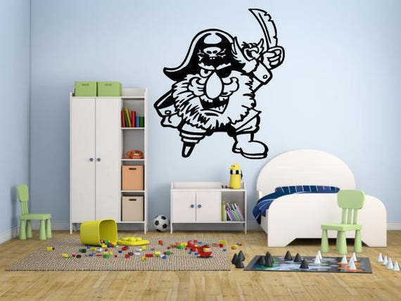 Mur autocollant autocollant Pirate film Action Cartoon enfants filles garçons adolescent chambre 684b