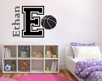 Basketball Personalised Write your Name Wall Decal Basket Stickers Decals Basketball Wall Stickers Kids Room Home 694RE