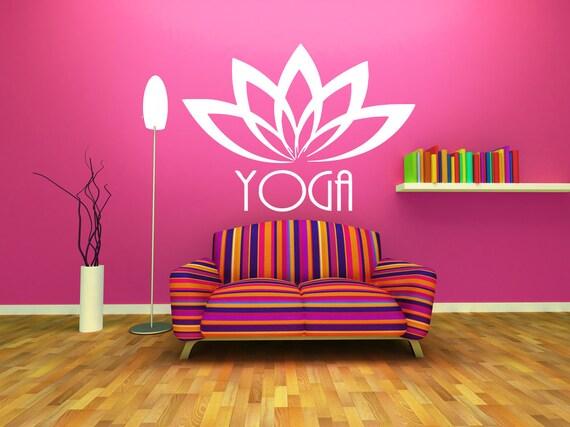 Wall Decal Sticker Bedroom Yoga Lotus Flower Hindu Yoga Studio Etsy