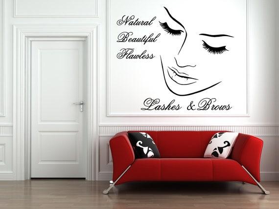 eyelashes wall decal decal eyelash wall decal decal lashes | etsy
