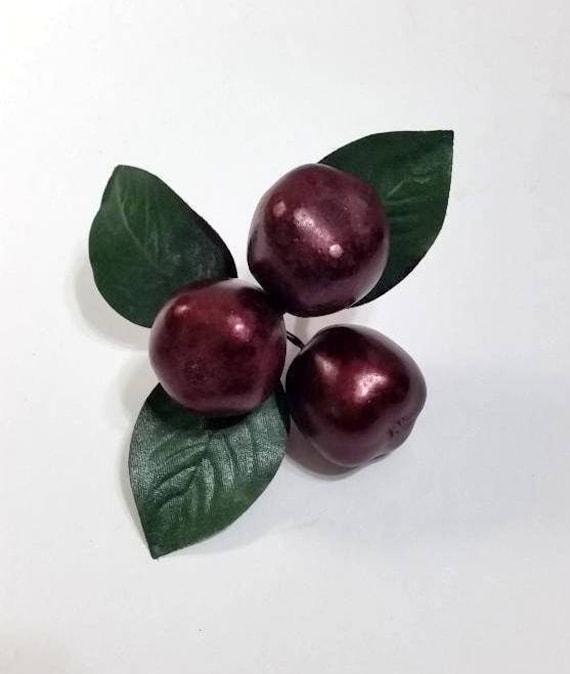Plum Picks Cranberry Color Jewel Tone Plum Pick Wreath Accent Fruit Fruit Pick Garland Accent Floral Arrangement Filler Swag Filler