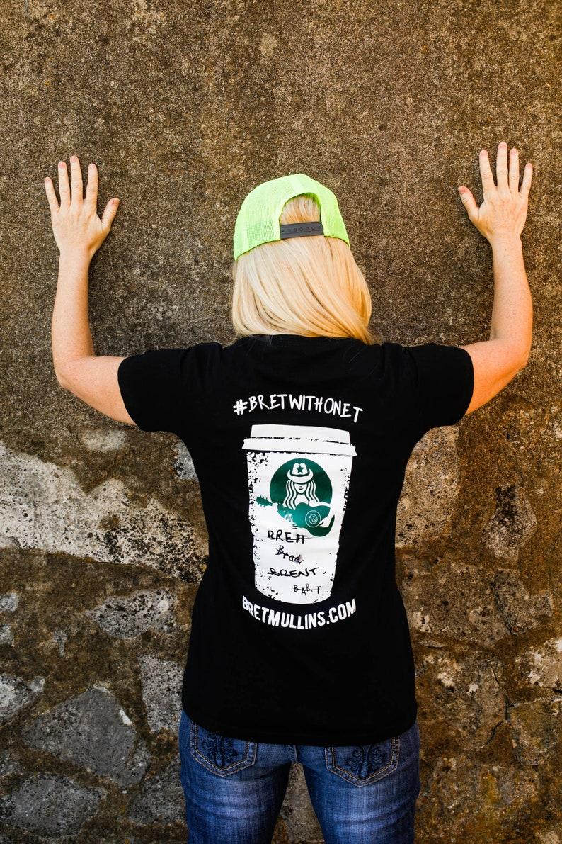 Women's Bret Mullins Band signature black t-shirt image 0