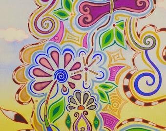 Synchronicity Original Painting Healing Meditation