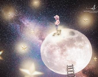 Catch a Falling Star milky way digital background/backdrop