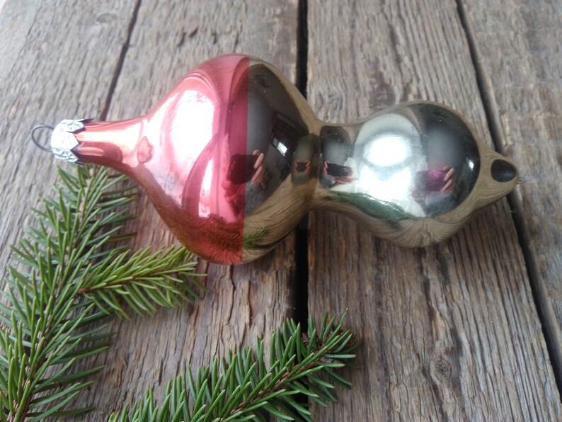 Soviet christmas Decorations Big Mushroom X-mas Tree toy,Soviet Vintage Christmas Glass Ornament,Antique Christmas Glass Ornament