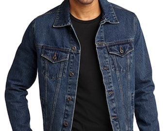 Custom Denim Jacket Men Etsy