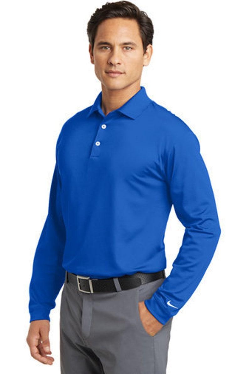 aa97b3b2 Custom Nike-Golf Long Sleeve Dri-FIT Stretch Tech Polo/   Etsy