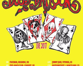 2017 Tour Poster - Tyla's Dogs D'Amour - Yellow A2