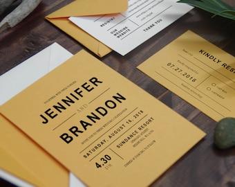 Wedding Invitation PHYSICAL SAMPLE #11-#37