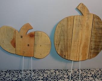 Outdoor Wooden Pumpkin ** Reclaimed Pallet Wood