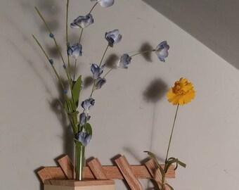 Glass Test Tube Vase from Reclaimed Lumber