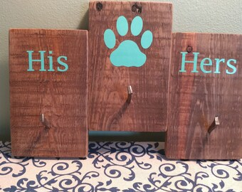 Customizable Key and Dog Leash Holders, with Gender Pairing