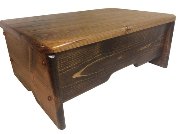 Gaglio Wood Products Bedside Step Stool 21 Long X Etsy