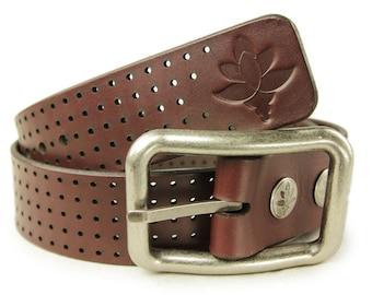 Premium Italian Leather Mens Belt - Minus